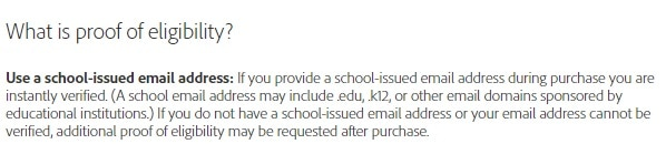 Adobe suite With Edu email